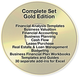 Excel Financical Analysis Templates: Balance Sheet, Business Valuation, Cash Flow Forecast