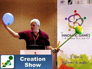 Vadim Kotelnikov making presentation 1st Innompivc Games India KoRe 10 Innovative Thinking Tools