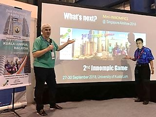 2nd Innompic Games 2018 presentation at WNSA Singapore Airshow What's Next startup program