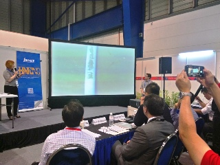 Margent Tomography Breakthrough Technology, remote detection of defects in oil and gas pipelines, Transkor Russia, Singapore Airshow 2018