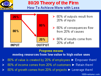 80/20 Law of the Firm / 80/20 Theory of the Firm