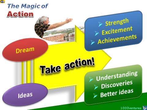 Action Magic: Act on your ideas and dreams to turn them intoa reality