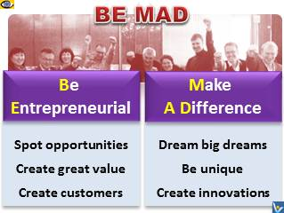 BE MAD free download e-book pdf - Be Entrepreneurial, Make A Difference, Vadim Kotelnikov