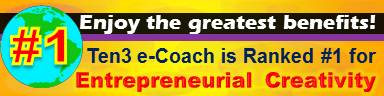 #1 Entrepreneurial Creativity Site - Ten3 Business e-Coach by Vadim Kotelnikov