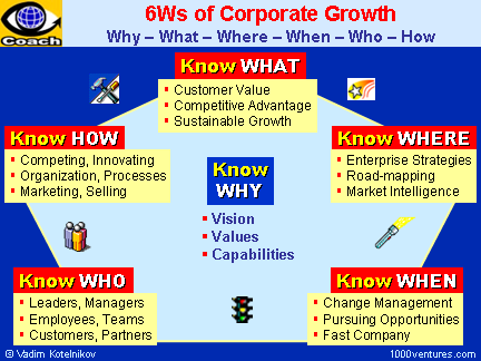 6Ws of Corporate Sustainable Growth and Business Success