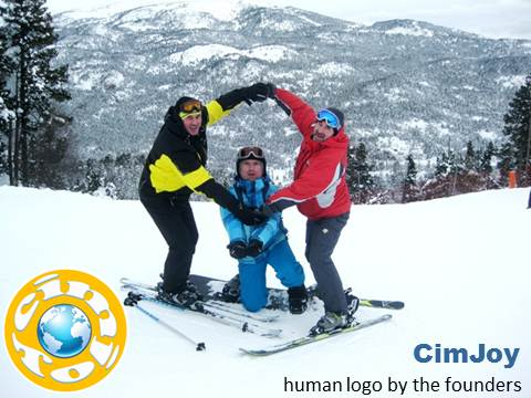 Human Logo, CimJoy, Vadim Kotelnikov, ski, mountains, creative marketing