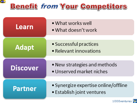 How To Benefit friom Competitors: Learn, Adapt, Discover, Partner