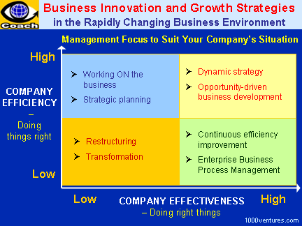 For corporate growth strategies the options for implementation are