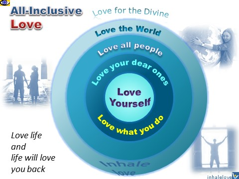 Love: All-inclusive Love - Love Yourself, Love Others, Love what you do, Love the World