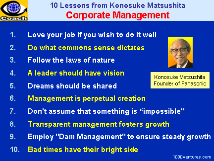 Corporate Management: 10 Lessons from Konosuke Matsushita