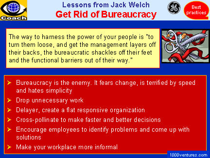 How To Eliminate Bureaucracy - advice by Jack Welch, GE