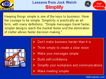 Simplify Your Business, Jack Welch's leadership advice