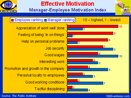 EFFECTIVE MOTIVATION as perceived by Managers and Employees