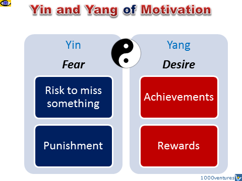 Yin and Yang of Motivation Fear Desire, how to motivate, e-coach Vadim Kotelnikov