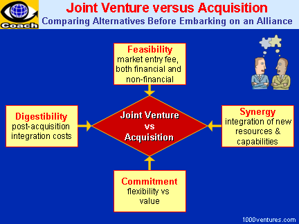 JOINT VENTURE vs ACQUISITION