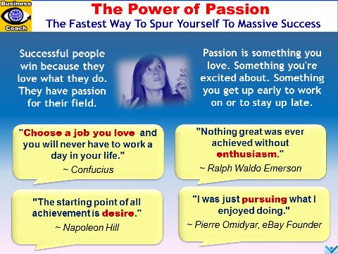 Passion, The Power of Passion, Achievement