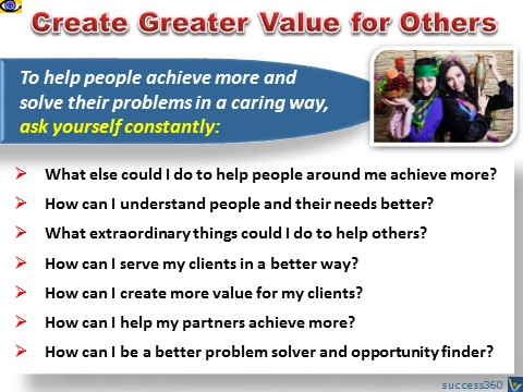 Creating Valure for Others - Create Greater Value for People Around You