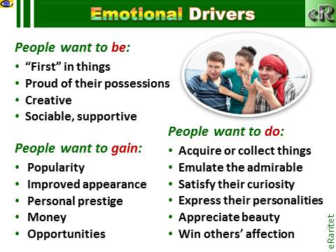 Emotional Marketing: Focus on Emotional Drivers of People - best practice eRaritet