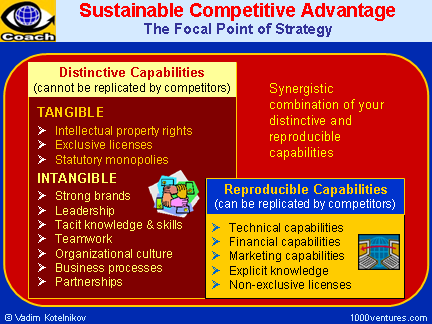 Sustainable Competitive Advantage: Synergy of Reproducible and Distinctive Capabilities