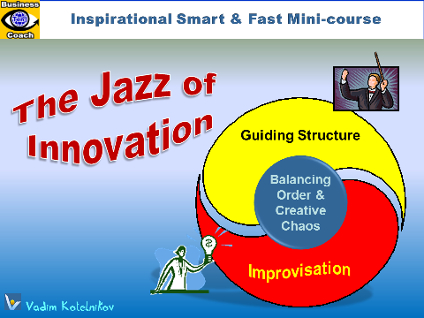 The Jazz of Innovation - Effective Innovation Process, New Technology Development, Product Innovation, innovation training, e-course download, self-learning mini-course by Vadim Kotelnikov, PowerPoint presentation
