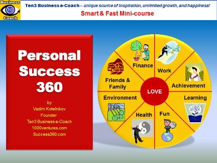 PERSONAL SUCCESS 360 (Ten3 Mini-course): Balanced Life, Achieveing Goals, People Skills