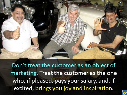 How To Treat Customers quotes - love, inspiration, joy, Vadim Kotelnikov photogram