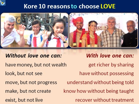Love benefitsL 10 Reasons to Choose Love, Vadim Kotelnikov quotes