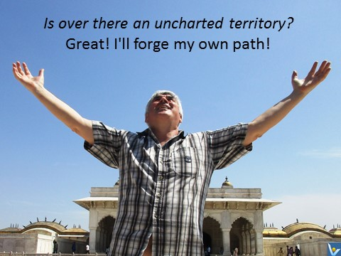 Uncharted territory quotes forge your own path, Vadim Kotelnikov, India, Agra Fort