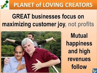 Vadim Kotelnikov India Rajendra Jagdale Planet of Loving Creators great business creates great value passion for customers