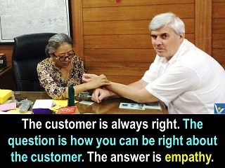 Customer care quotes empathise with customers understand clinets Vadim Kotelnikov