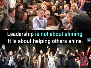 What is Leadership: helping others shine, Vadim Kotelnikov, leader quotes, Andron Konchalovski